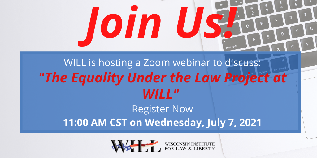 Webinar: The Equality Under the Law Project at WILL